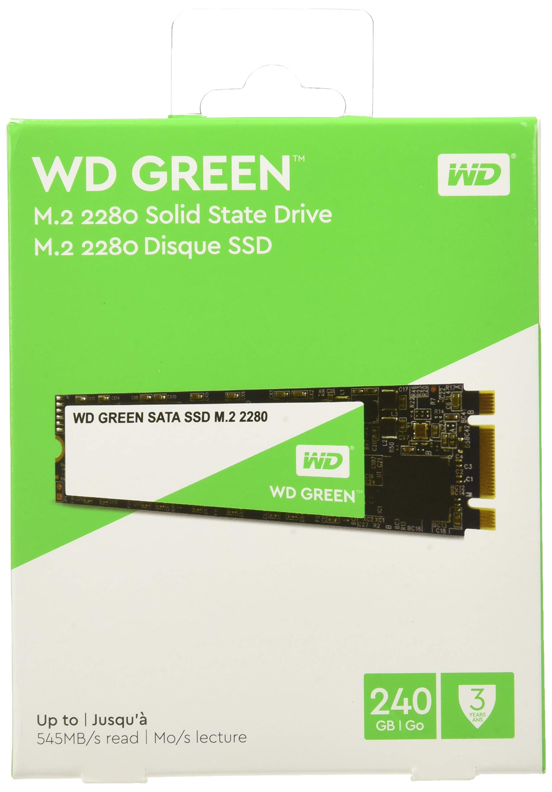Western Digital Green 240 GB Internal SSD M.2 SATA, Green-Performance