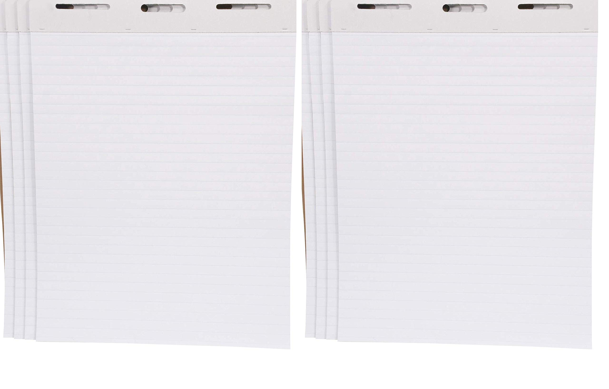 School Smart Ruled Easel Pads, 27 x 34 Inches, 50 Sheets, White, Pack of 4-1467043 (Тwo Рack) by School Smart