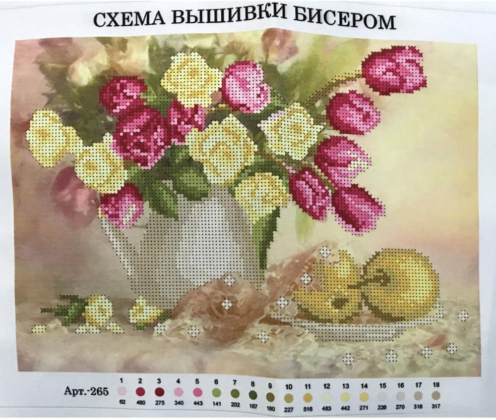 Perlenstickerei Komplett Set Moskau 24x30cm 0616-5
