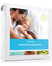Linenspa Zippered Encasement Waterproof, Dust Mite Proof, Bed Bug Proof, Hypoallergenic Breathable Mattress Protector