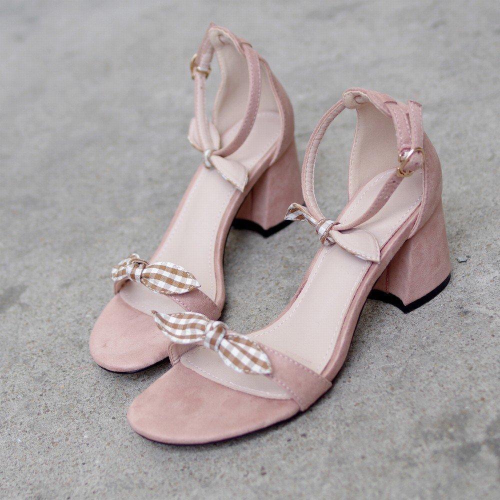 F CWJ Bow Femmes 'S Chaussures Rohomme épais avec Un Mot avec des Chaussures de Fées