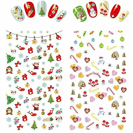 udyr christmas nail decals tip nail art stickers self adhesive nail decoration for manicure diy - How Much To Tip Hairdresser At Christmas