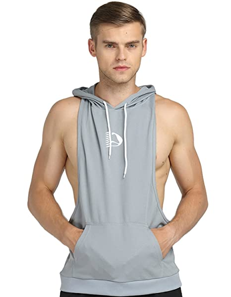 6bc0d43a38677 Buy S-muscle Mens Professional Workout Stringer Hoodie Tank Tops Shirts  With Top Net Fabric Online at Low Prices in India - Amazon.in