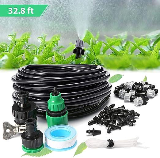 KING DO WAY 10M Kit Riego Automatico, Conjuntos de Riego Ajustable para Irrigación Riego Bruma Jardín Invernadero: Amazon.es: Jardín