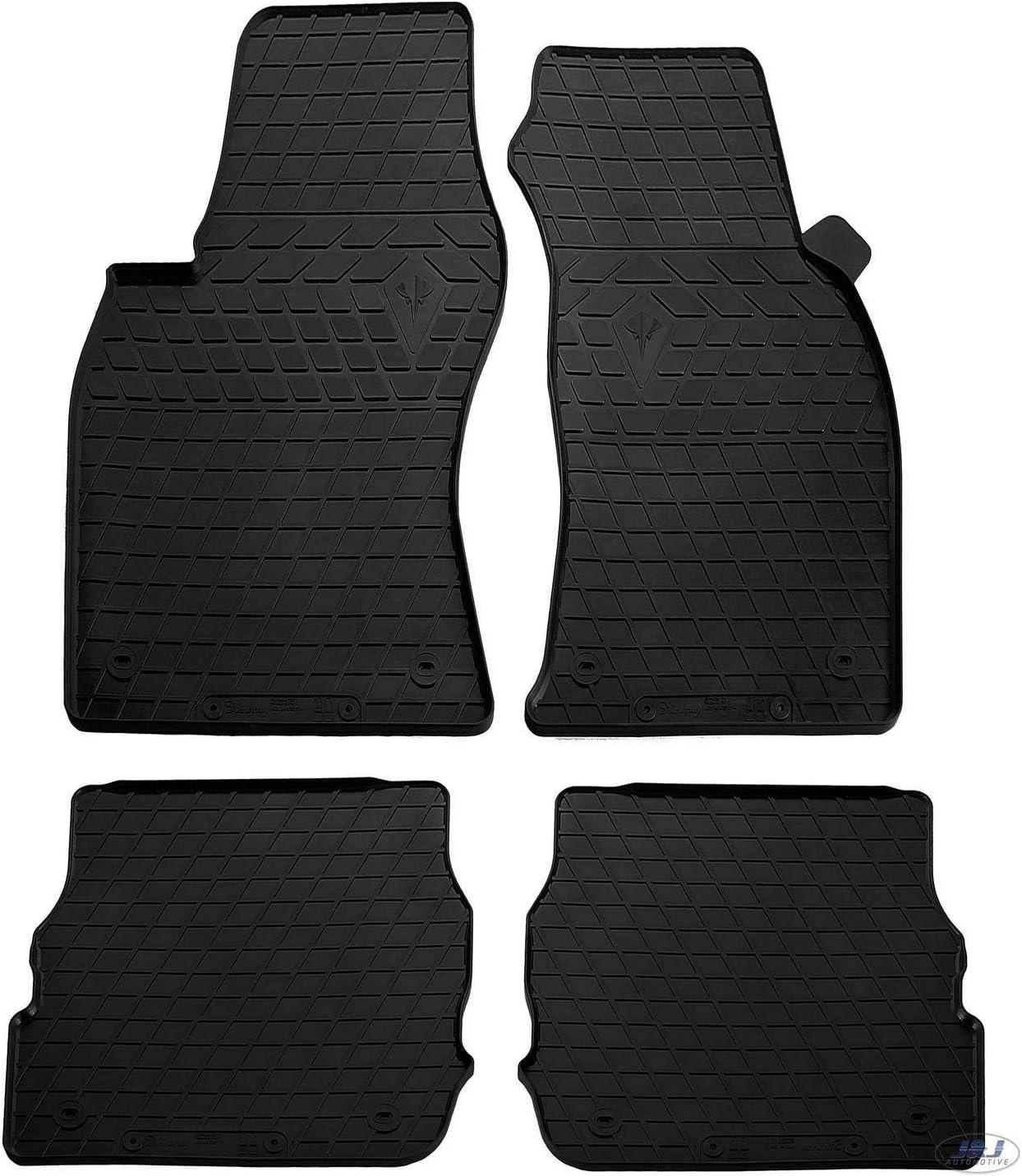 1997-2004 4pcs C5 J/&J AUTOMOTIVE Noir Tapis DE Sol en Caoutchouc Compatible avec Audi A6