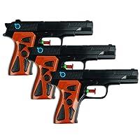 Schramm® 3er Pack Wasserpistole Agent Wasserpistolen Wasser Pistole Water Gun Watergun Wassergewehr Wassergewehre Spritzpistole