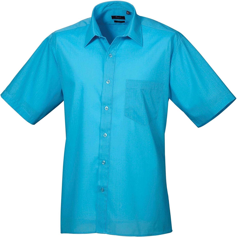 Premier Short Sleeve poplin Shirt Blank Plain PR202