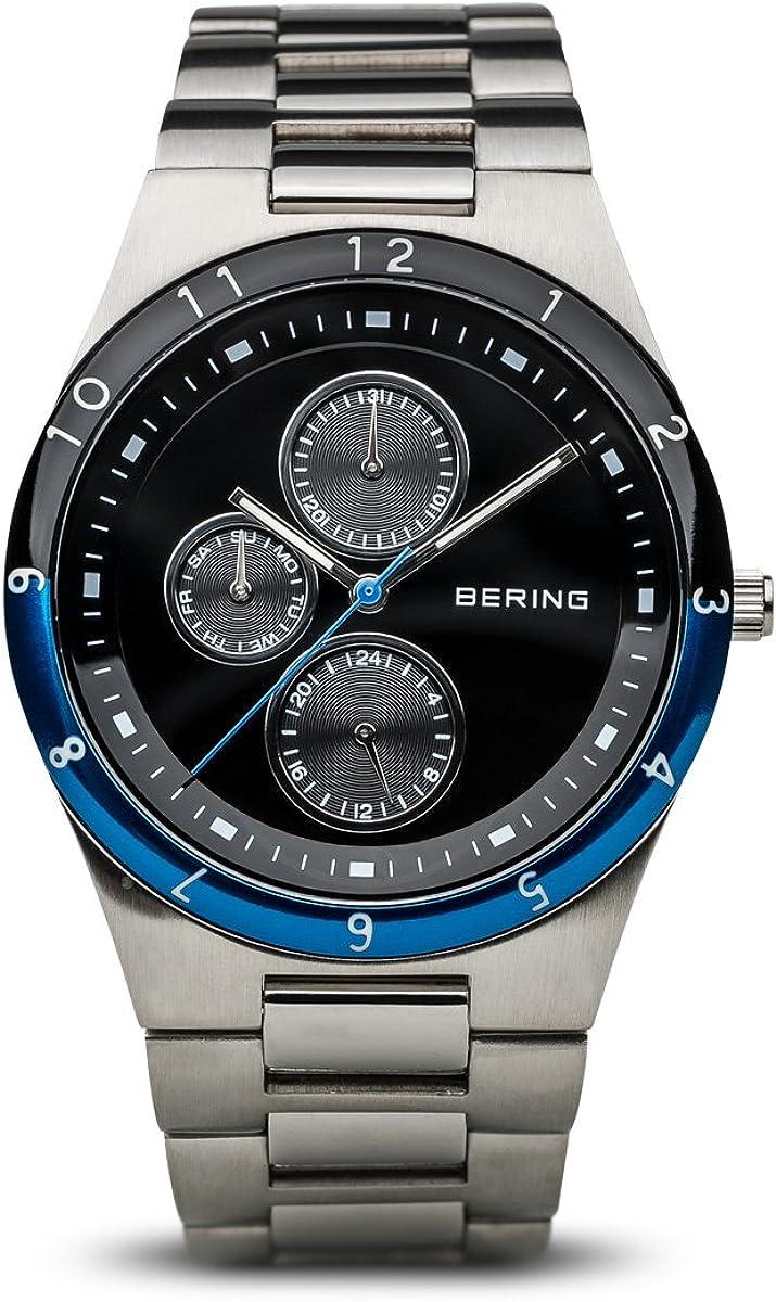 BERING Reloj Analógico para Hombre de Cuarzo con Correa en Acero Inoxidable 32339-702