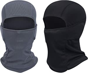 QINGLONGLIN Balaclava - Windproof Mask Adjustable Face Head Warmer for Skiing, Cycling, Motorcycle Outdoor Sports 2Pcs