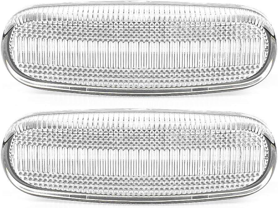 Lot de 2 clignotants lat/éraux /à LED avec marquage E4 White Vision V-174407