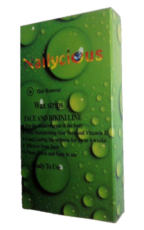 Mini kalt Wachsstreifen mit Ready Wax fü r Gesicht und Bikini mit Aloe Vera und Vitamin E 36 Stü ck pro Packung Nailycious Ltd