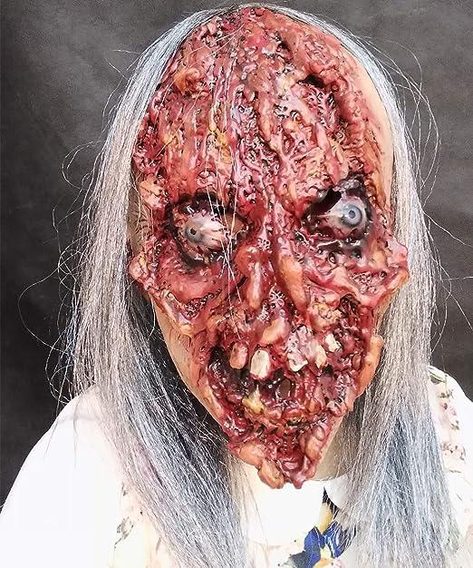 Bloody Zombie Face Mask Demonios de Halloween Rotten Face Eyeball ...