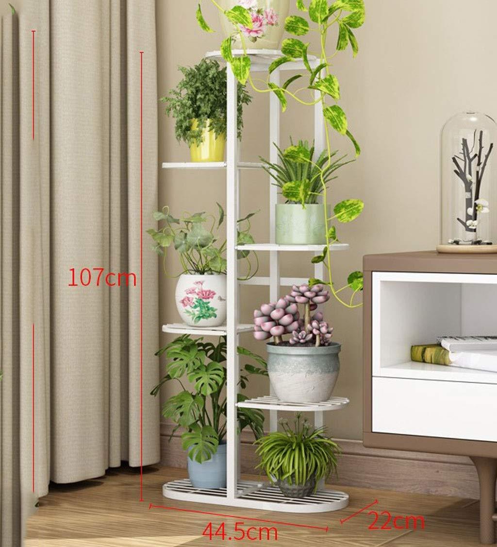 黒、白の錬鉄製の金属の植木鉢の陳列台、テラス、ポーチ、バルコニー、庭園に適した多層アールデコフレーム (色 : ブラック, サイズ さいず : 9 pots) B07RXS97R6 ブラック 9 pots