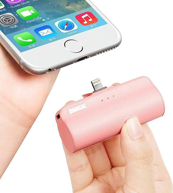 iWALK 3350mAh Móvil Portátil Batería Externa, Ultra-Ligera Power Pack Compacto Power Bank Cargador Compatible para iPhone 5 6 7 8 Plus X SE XS y así: Amazon.es: Electrónica