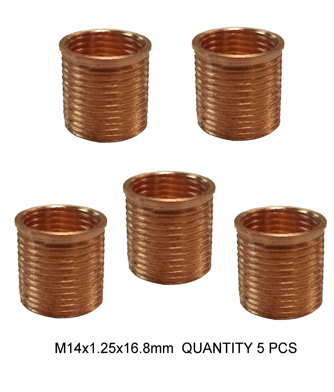 M14x1.25x16.8mm spark plug insert p/n 44111 QTY 5 Time-Sert 44111-5