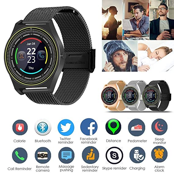 Amazon.com: Fanxis Smart Watch,Bluetooth Smartwatch Touch ...