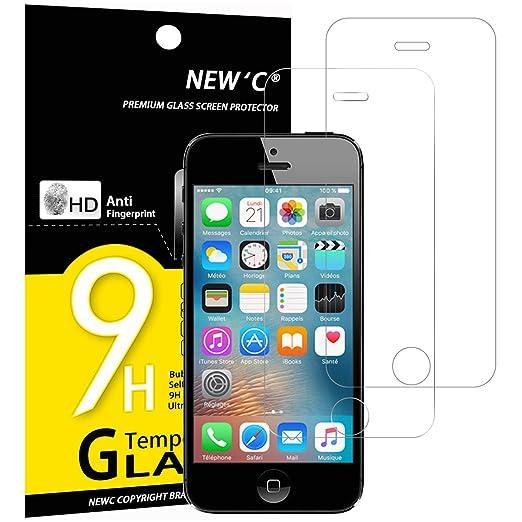 29 opinioni per Vetro Temperato iPhone 5S / 5 / SE / 5C, Pellicola Protettiva NEW'C® PACK 2 in