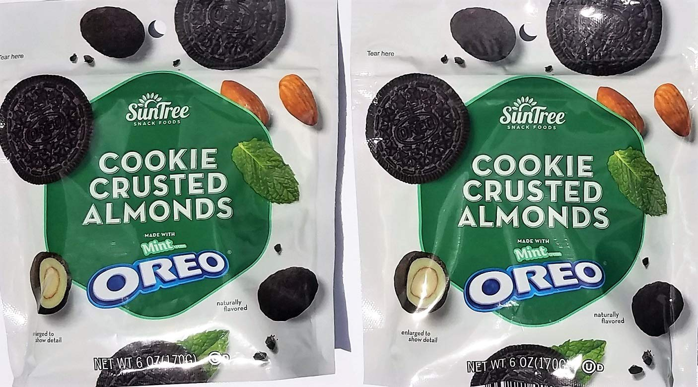 COOKIE CRUSTED ALMONDS MINT OREO - 6 oz - 2 PACKS