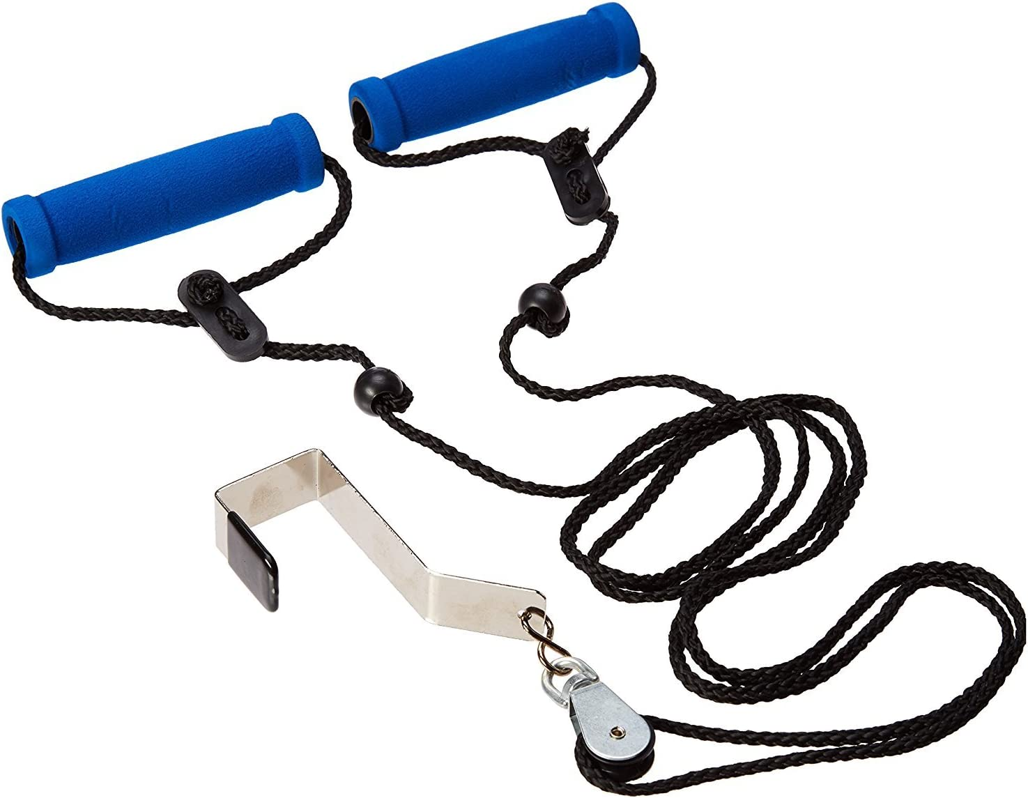 BodyHealt Overhead Shoulder Pulley – Overdoor Pulley with Large Foam Grip for Optimal Comfort- Simple Yet Effective Exercise Tool for Upper Body Toning, Rehab, Physical Therapy & Fitness Aid (Bracket)