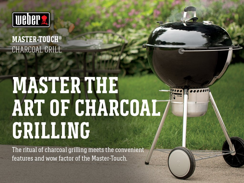 Weber Holzkohlegrill Master Touch : Amazon weber master touch charcoal grill inch