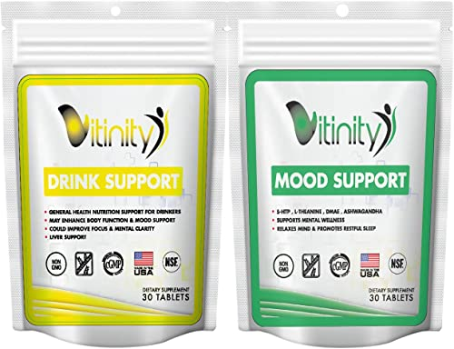 Anti Alcohol Craving Support Supplement – Liver Health,Reduce Alcohol Formula – Kudzu,Milk Thistle,Holy Basil,DHM for All Natural- Drink Support – Mood Support Combo 60 Count