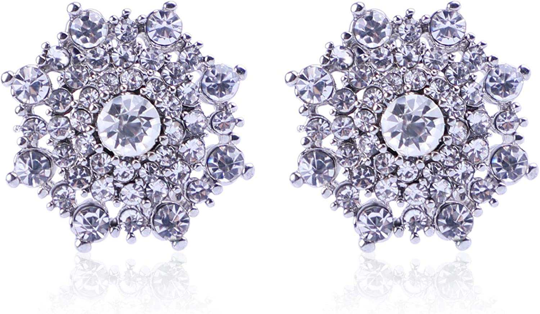 Clip On Crystal Earrings -...