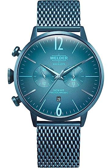 Welder Breezy Reloj para Hombre Analógico de Cuarzo con Brazalete de Acero Inoxidable WWRC416: Amazon.es: Relojes