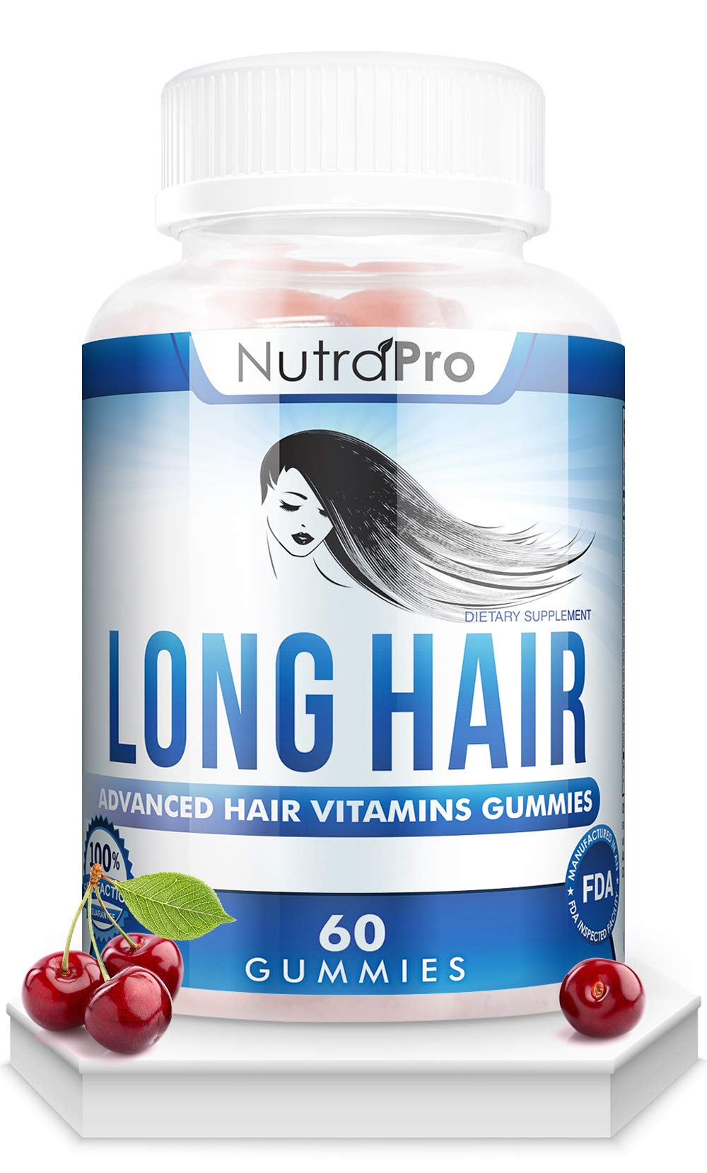 Long Hair Gummies - Anti-Hair Loss Supplement for Fast Hair Growth of Weak, Thinning Hair - Grow Long Thick Hair & Increase Hair Volume with Biotin And 10 Other Vitamins.For Men And Women. by NutraPro