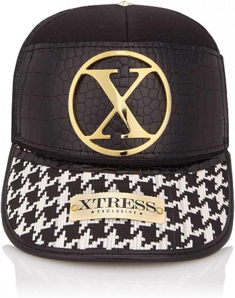 Gorra blanca y negra de la marca Xtress Exclusive. Gorra unisex ...