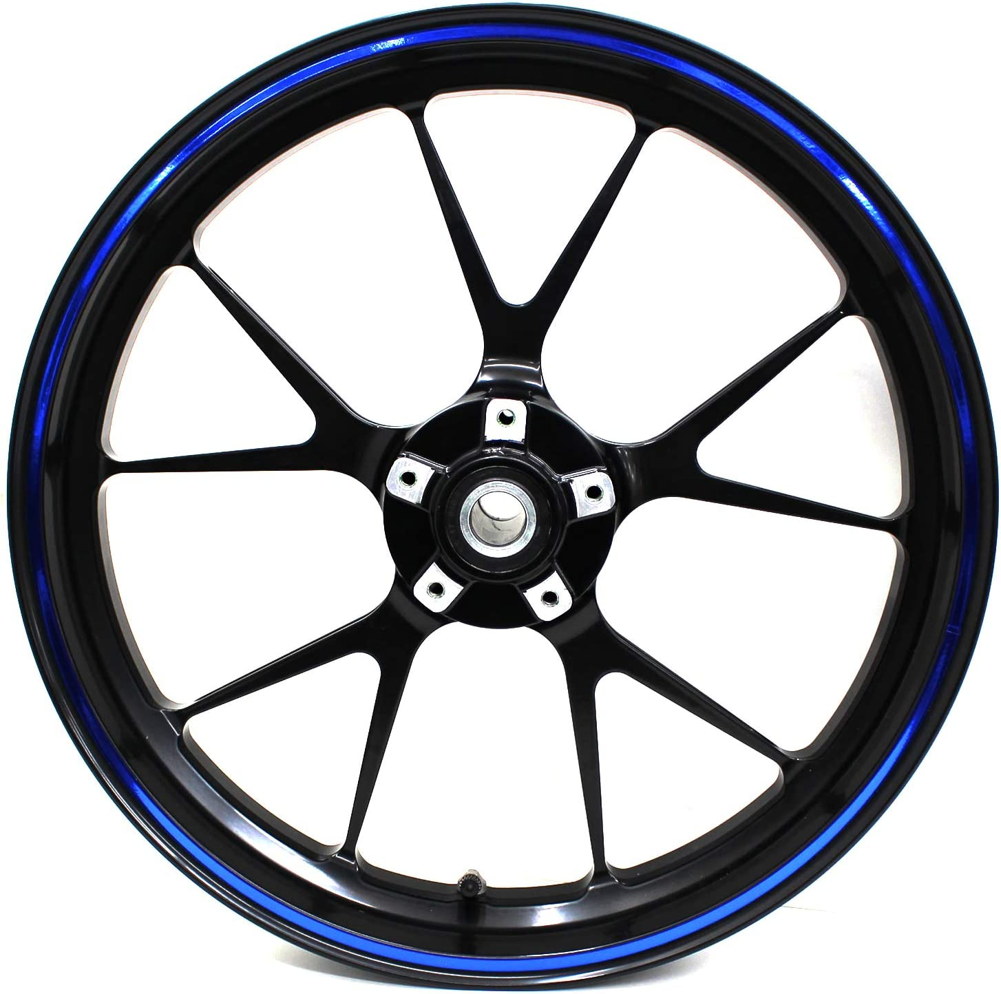 Wheel rim sticker chrome rim design including mounting tool complete set Finest Folia suitable for 17 inch and 16 inch 18 inch 19 inch rims motorcycle car bicycle.