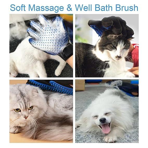 Herramienta de baño para mascotas, pulverizador de ducha perro gato con guante de aseo izquierdo y toalla como regalos, para uso en interiores y exteriores: ...