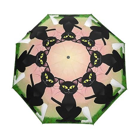 7fe912de865b Amazon.com : Aideess Cats Couple Windproof & Waterproof Compact ...