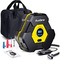 $28 » Audew Portable Air Compressor Tire Inflator with Gauge, Auto Digital Air Pump for Car Tires with…