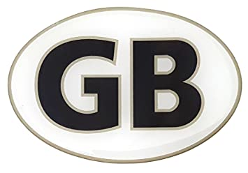 HIGH GLOSS DOMED GEL Domed Union Jack Black GB Vehicle Number Plate Stickers