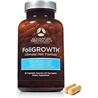 FoliGROWTH Ultimate Hair Nutraceutical – Get Thicker Hair, Reverse Diffuse Thinning Guaranteed - Gluten Free, Vegetarian…