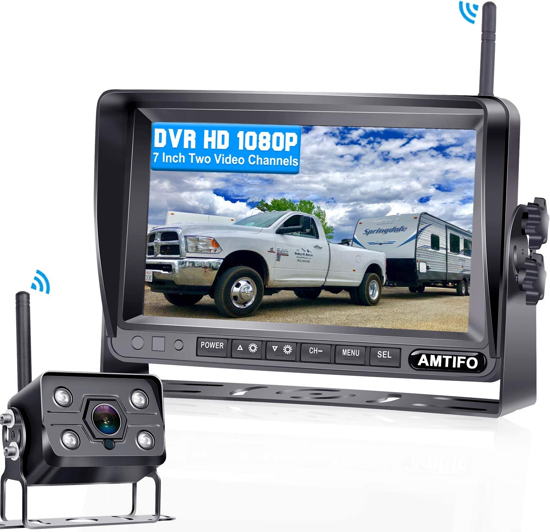AMTIFO A7高清1080P数字无线备份摄像头