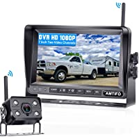 AMTIFO A7 HD 1080P Digital Wireless Backup Camera with 7 Inch DVR Monitor 2021 Newest Version High-Speed Rear View…