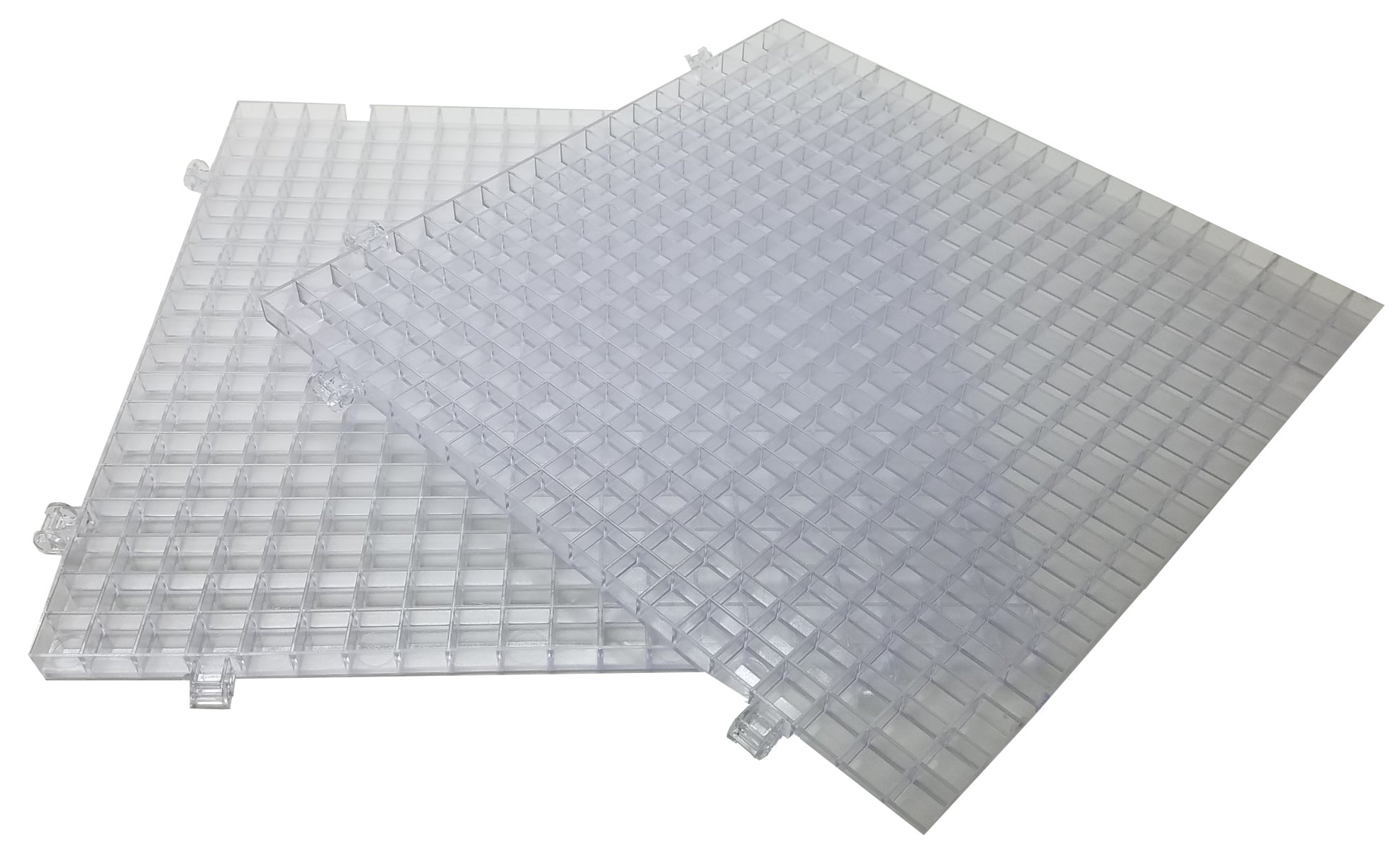 Creator's Waffle Grid 2-Pack Clear Modular Surface For Glass Cutting, Small Parts, Debris, or Liquid Containment. Use At Home, Office, And Shop. Works With Creator's And Morton Products