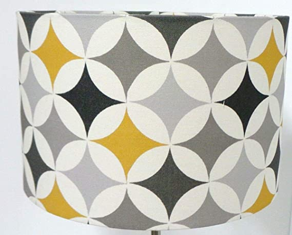 Pantalla para lámpara de mesa (20 cm), diseño retro, color ...