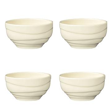 Jamie Oliver WAVES Set of 4 Large 16cm Fine Porcelain Bowl Off White Porcelain Ceramic  sc 1 st  Amazon UK & Jamie Oliver WAVES Set of 4 Large 16cm Fine Porcelain Bowl Off ...
