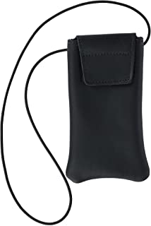 product image for Boston Leather Solid Leather Eyeglass Case with Neck String
