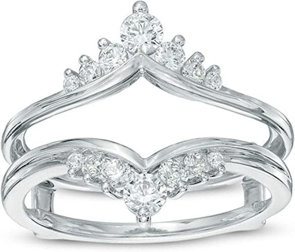 2.54 Ct Round Diamond 14K White Gold Over Engagement Wedding Enhancer Ring 925