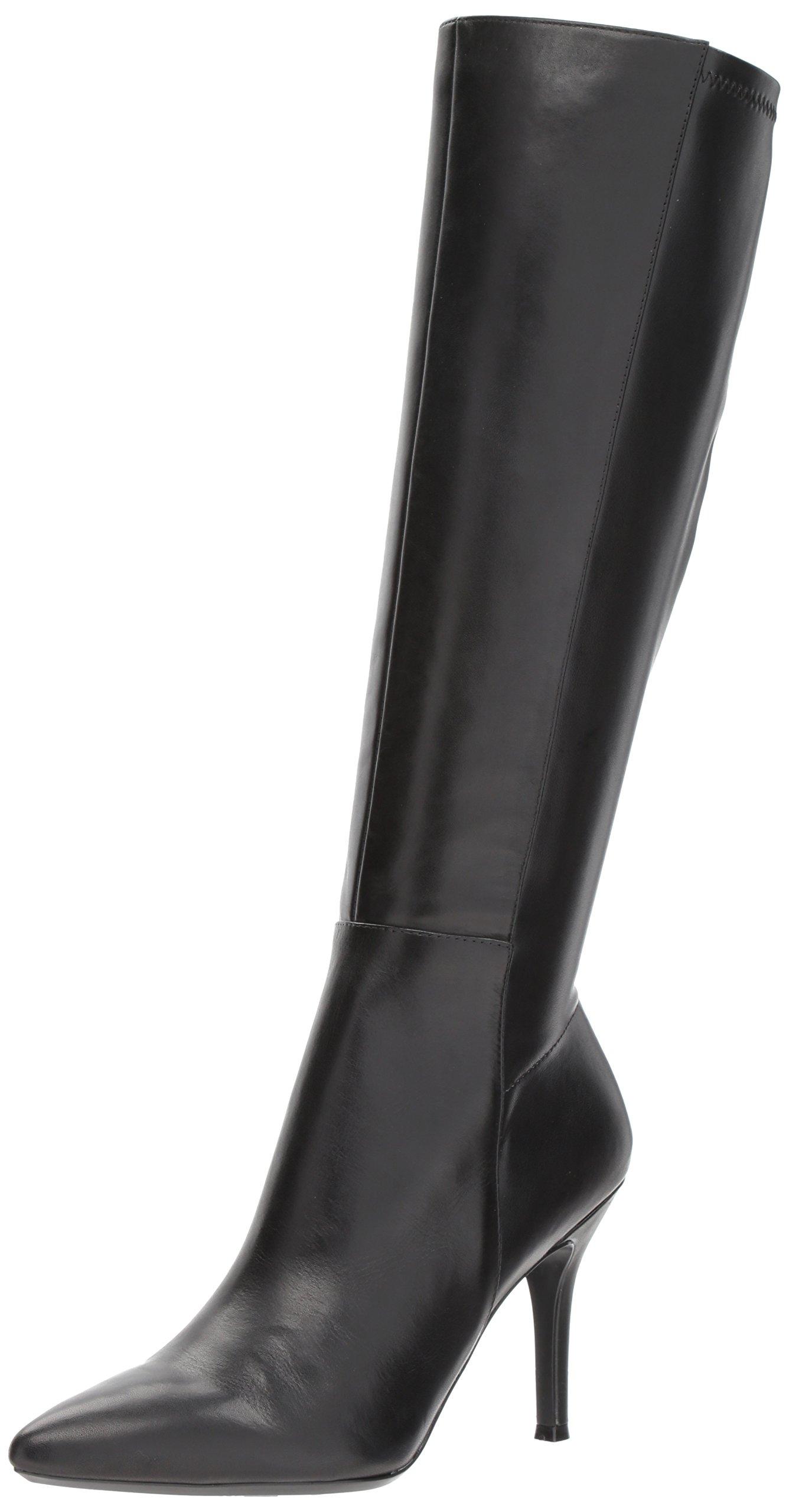 Nine West Women's Fallon, Black Leather, 7.5 Medium US