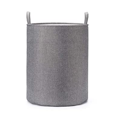Every Deco Charcoal Grey Collapsible Laundry Hamper with Handles and Fabric Lining for Clothing and Storage, 19.68  H x 15.75  Diameter