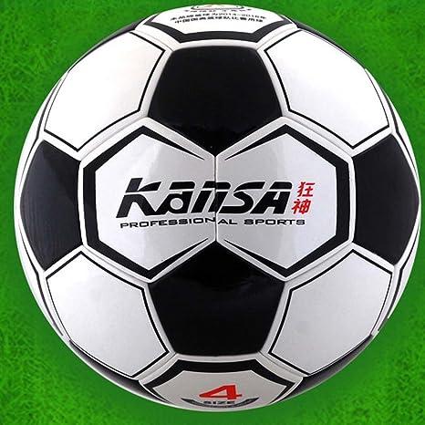 Kansa suave piel sintética balón de fútbol, tamaño 4: Amazon.es ...