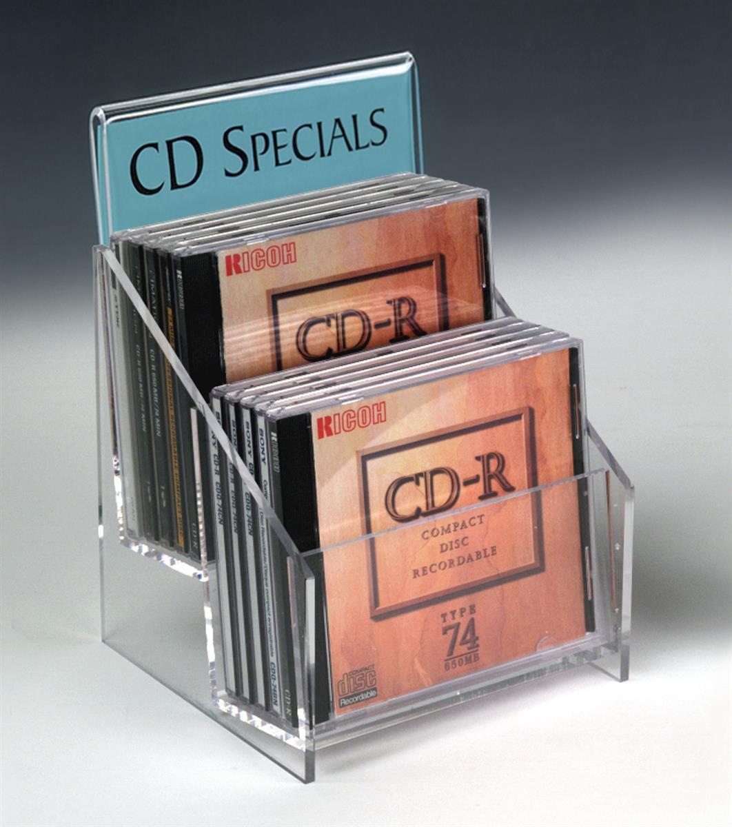Displays2go CD10HD Set of 4 Tabletop CD Display Racks