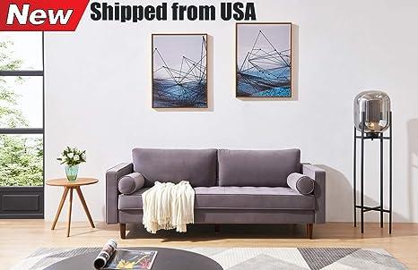 Amazon.com: Jresboen Thicken Velvet Fabric Living Room Sofa ...