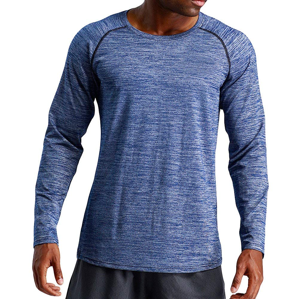 FIRSS Herren Drucken Pullover Rundhals Bluse Normallack T-Shirt Fitness Sweatshirt Training Shirt Langarm Casual Lose Langarmshirt
