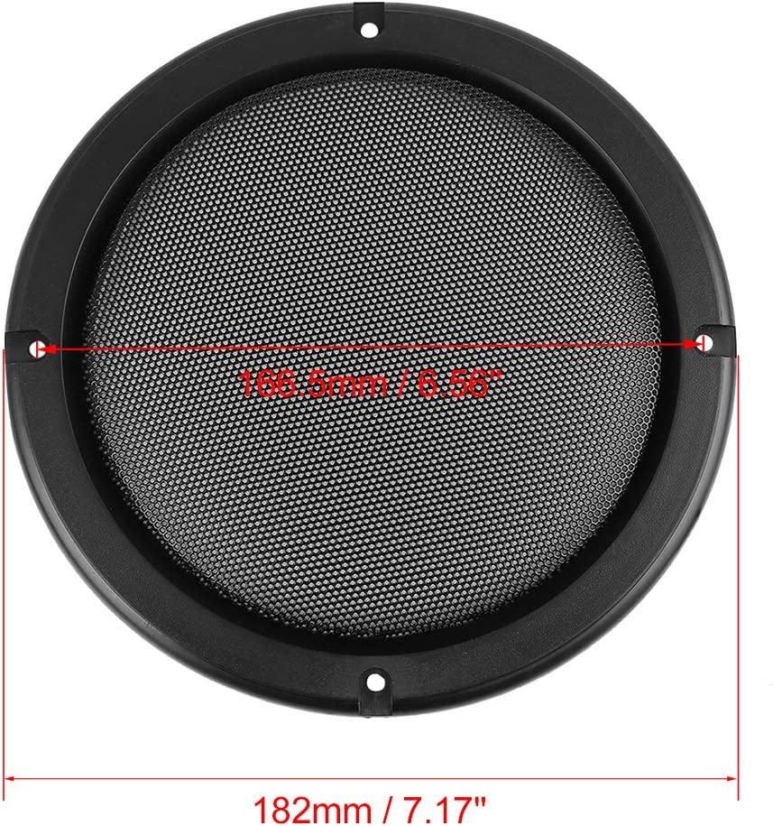 X AUTOHAUX Grill Cover 6.5 Mesh/ Protector Car Speaker Cover Woofer Subwoofer Grill