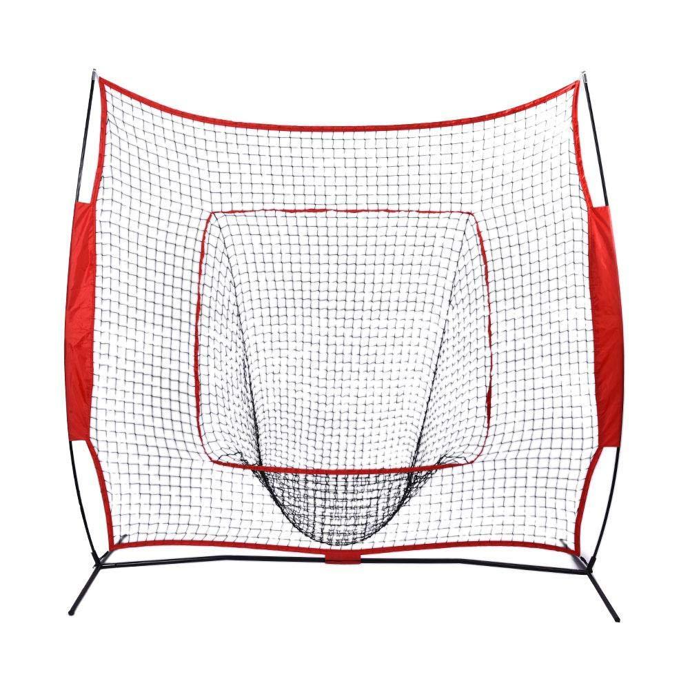 Zerone Rete di Allenamento Baseball Softball Pratica Colpendo Batting Training Net con Telaio Tubolare Acciaio